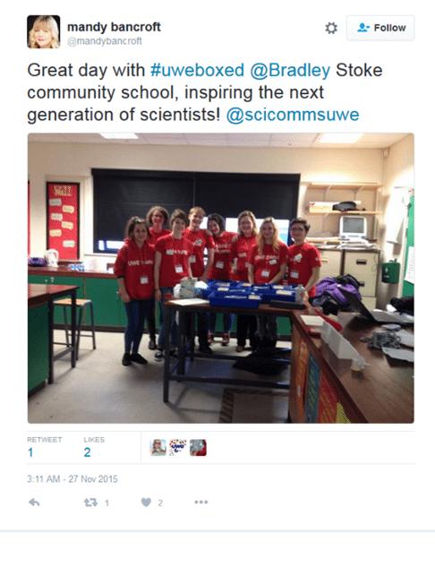 bradley-stoke-science-tweet